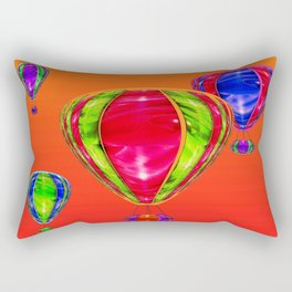 Balloons in front of evening sky ... Rectangular Pillow
