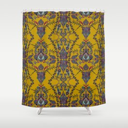 Gold Gipsy Paisley Shower Curtain