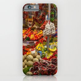 Vegetable stand in Italy iPhone Case