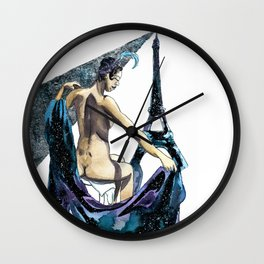 Black Pearl of Paris Wall Clock