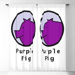 Portrait of Purple Pig Blackout Curtain