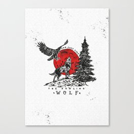 The Howling Wolf Canvas Print