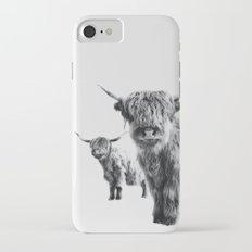 LULU & SARA - Scottish Highland Cows iPhone 7 Slim Case