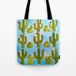 Cactus Life Illustration Tote Bag