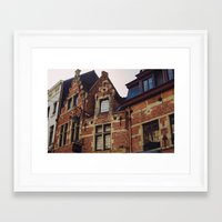 brussels Framed Art Prints featuring Brussels by monography