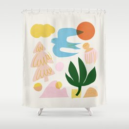 Abstraction_Nature_Beautiful_Day Shower Curtain