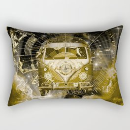 galaxy vintage voyager world map design 3 Rectangular Pillow