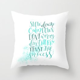 The Art of Slow Throw Pillow