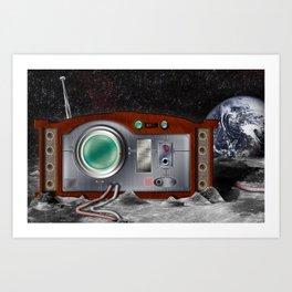 Lunar Radio II - Surreal Art Art Print