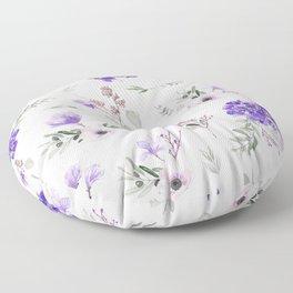 Violet pattern IIIl Floor Pillow