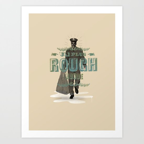 Plus rough world! Art Print