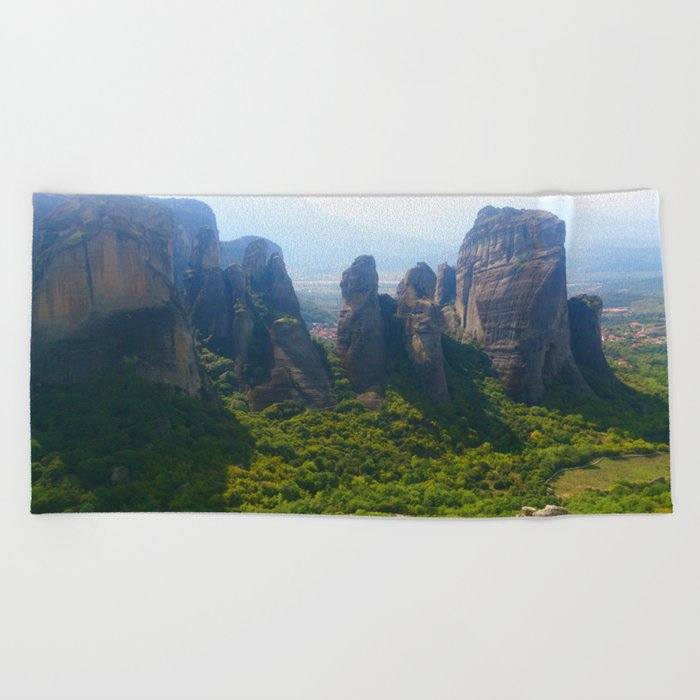 Meditation up to Meteora | Greece | Nature Beach Towel