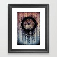 Steampunk clock Framed Art Print