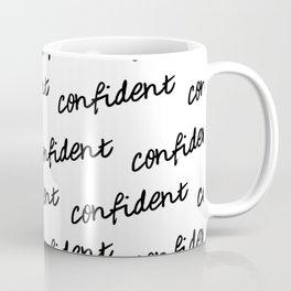 GOOD VIBES - CONFIDENT white Coffee Mug