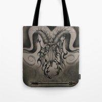 ram Tote Bags featuring RAM by ERINN CALLA LYONS