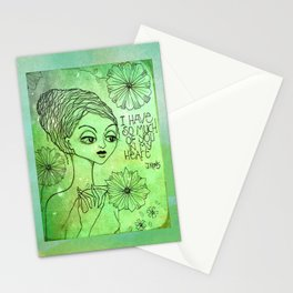 I have so much of you in my heart Stationery Cards
