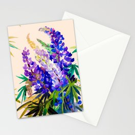 Lupine flowers Stationery Cards