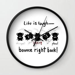 Teddy Bear's Tough Life Wall Clock