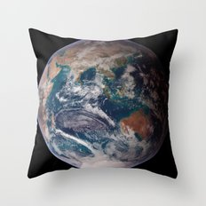 Earth : The Blue Marble Throw Pillow