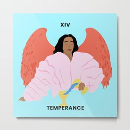 Solange - Black Girl Magic Temperance Tarot Card Metal Print