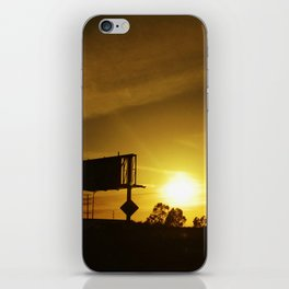 Catching the sunset from the freeway. iPhone Skin