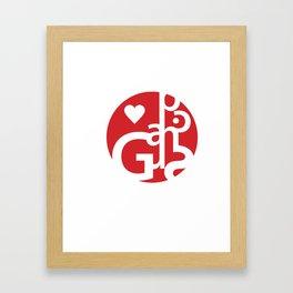 Love Graphics Framed Art Print