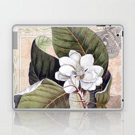 Vintage White Magnolia Laptop & iPad Skin