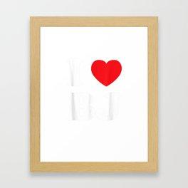I love BJ Beijing Gift Idea T-Shirt Framed Art Print