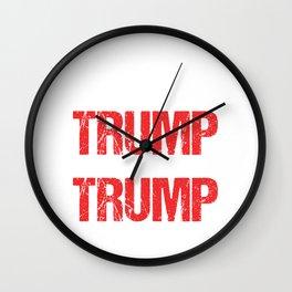 Fuck Trump Funny Anti Trump President Gift Wall Clock