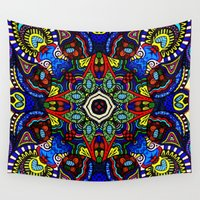guardians Wall Tapestries featuring Egyptian Cobra Guardians by Wealie