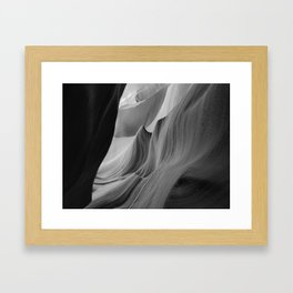 Canyon (Black and White) Framed Art Print