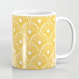 Orange slices, tropical fruit pattern design Coffee Mug