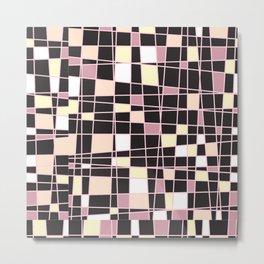 abstract background tile vitrage illustration geometric decorative mosaic art pattern Metal Print