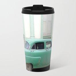 Mint Green Vintage Car Travel Mug