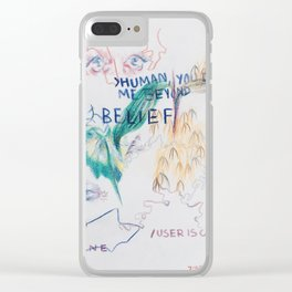 Abstract Colored Pencil Infodump #1 Clear iPhone Case