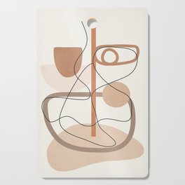 Abstract Line Movement I Cutting Board