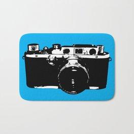 Leica in Blue Bath Mat