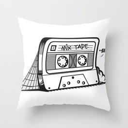 The forgotten Mix Tape Throw Pillow