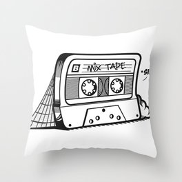 The forgotten Mix Tape Throw Pillow