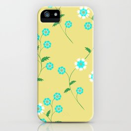 Knapweed, centaury, centory flowers iPhone Case