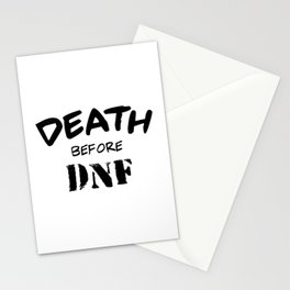 Death Before DNF Stationery Cards