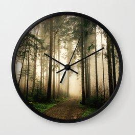 Misty woods--- Wall Clock