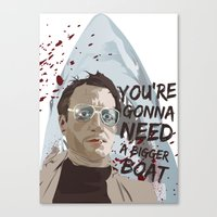 jaws Canvas Prints featuring Jaws by Colo Design