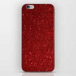 Garnet January Aquarius Birthstone Shimmering Glitter iPhone Skin