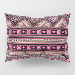 Cross Stitched Boho Pillow Sham