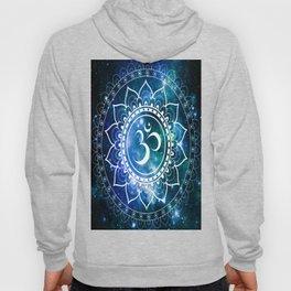 Om Mandala : Blue Green Galaxy Hoody