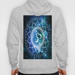 Om Mandala : Blue Green Galaxy Hoody