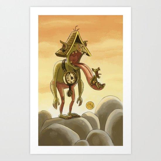 Goblins Drool, Fairies Rule! - Cuckoo Clock Art Print