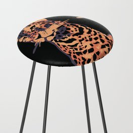 Retro vintage Munich Zoo big cats Counter Stool