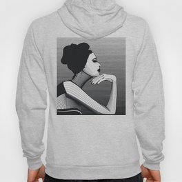 Black and White Female Hoody